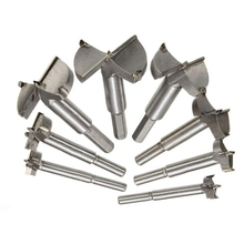 Drill Bit 25mm-60mm Woodworking Hole Saw Set Auger Opener Drilling Wood Plastic Plywood With Round Shank 6pcs auger drilling hole saw cutting woodworking kit opener triangular hole saw set drill bit wooden wood cutter