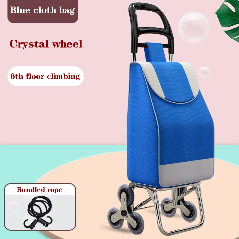 New trolley for grocery shopping, household lightweight trolley, folding supermarket portable woman trolley cart climbing stairs