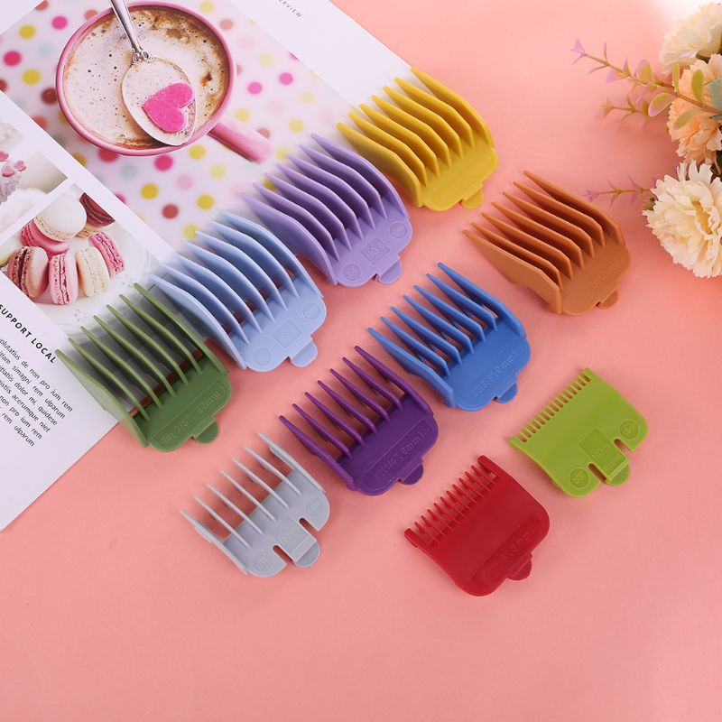 Colorful Guide Sizes Comb Multiple Sizes Metal Limited Combs Hair Clipper Tool