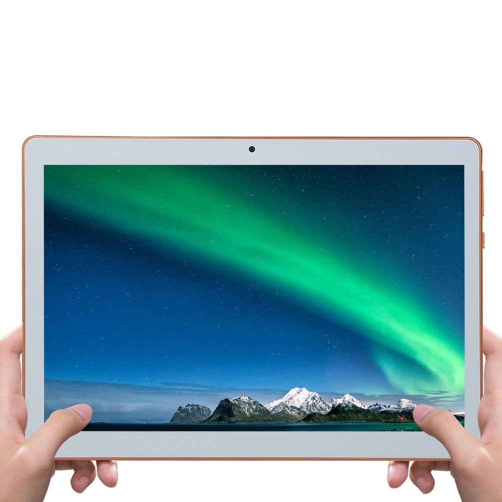 KT107 Plastic Tablet 10.1 Inch HD Large Screen Android 8.10 Version Fashion Portable Tablet 8G+64G White Tablet White US Plug