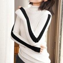 цены на YICIYA Color Sleeve Head Sweater Woman Short Fund Self-cultivation Pure Cashmere Close Knitting Rendering Unlined Upper Garment  в интернет-магазинах