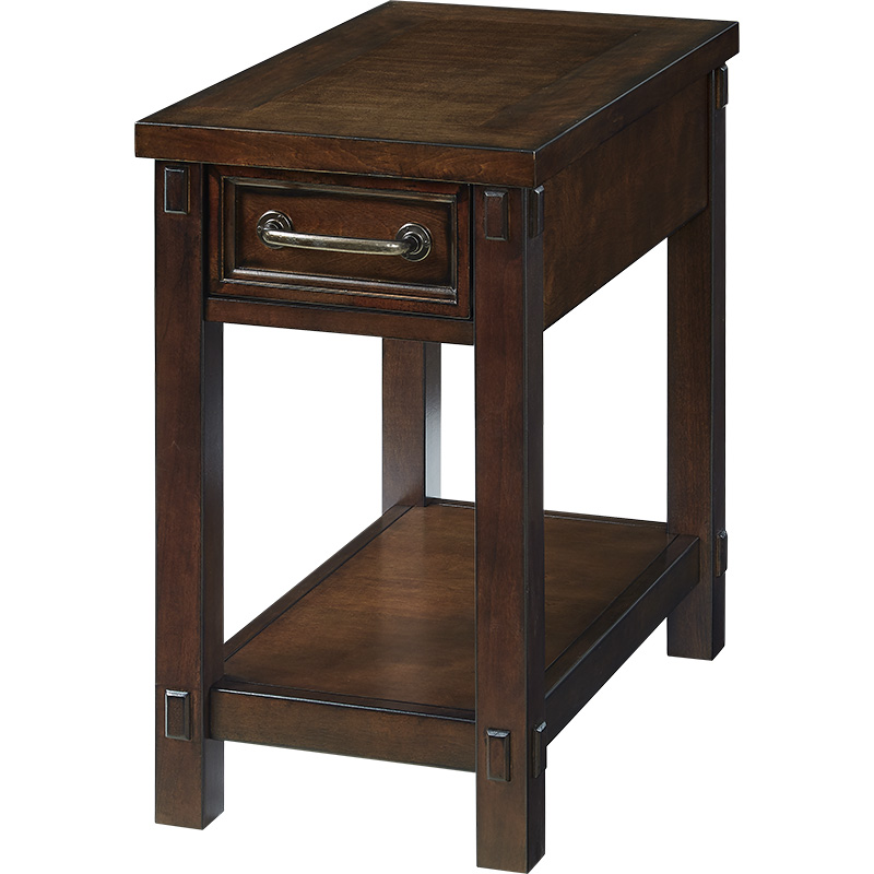 Sofa side cabinet American tea table side solid wood living room simple rectangular bedside table small table