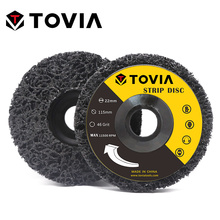 TOVIA 2шт 125мм Поли полоса диск для угловая шлифовальная машина абразивные колеса очистить удалить краску автомобиля ржавчины шлифовальный 115мм