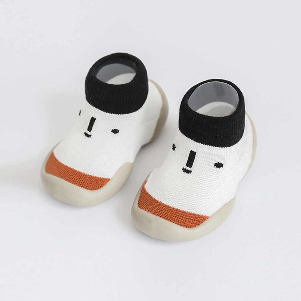 Kids Schoenen Peuter Baby Jongens Meisjes Cartoon Anti-slip Gebreide Warme Zachte Sokken Meisjes Platte Baby Sneakers Tenis Infantil zapatos