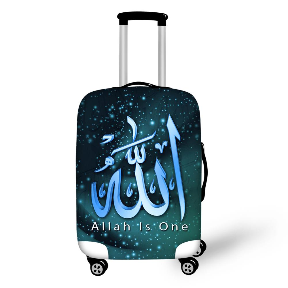 Islamic Allah Elastic Luggage Cover Islamic Dustproof&Waterproof Protective Cover For Travel Suitcase Dust Covers 18-32 inch