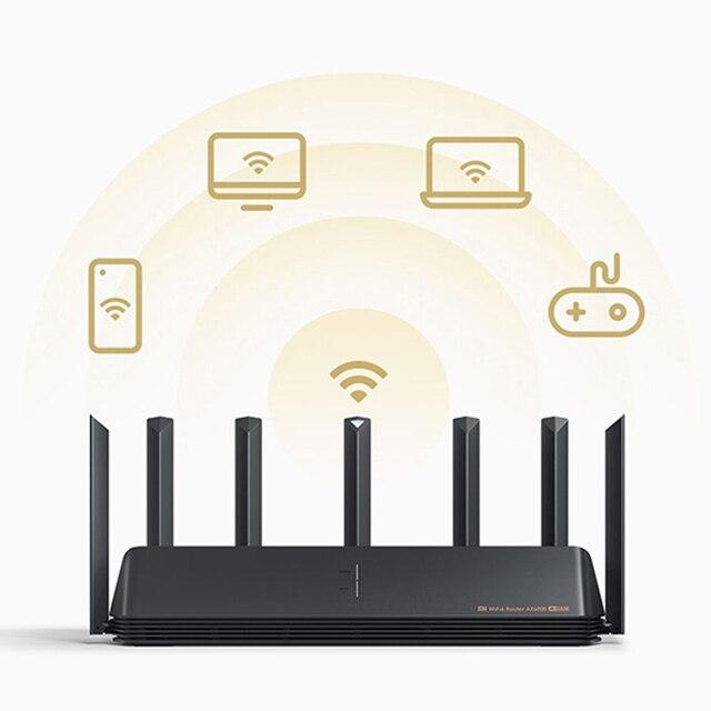 2021 Xiaomi AX6000 AIoT Router 6000Mbs WiFi6 VPN 512MB Qualcomm CPU Mesh Repeater External Signal Network Amplifier Mi Home 3