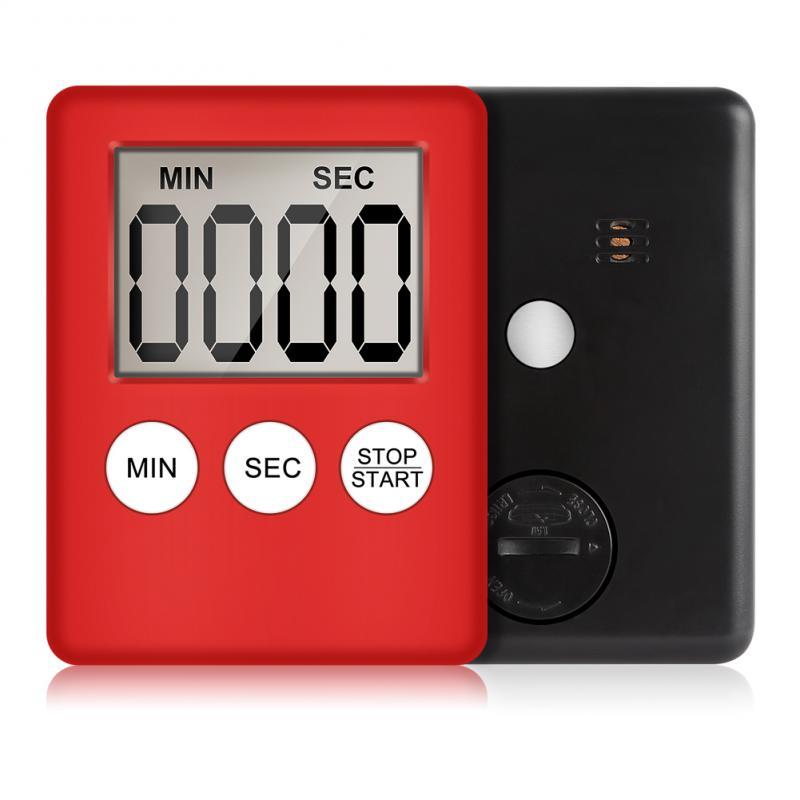 1 шт. кухонный таймер для приготовления пищи цифровой, громкий сигнал тревоги, магнитная подставка, с большим ЖК-дисплеем для приготовления ...