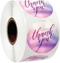 Наклейка «спасибо» этикетки 500 наклеек в рулоне День Рождения