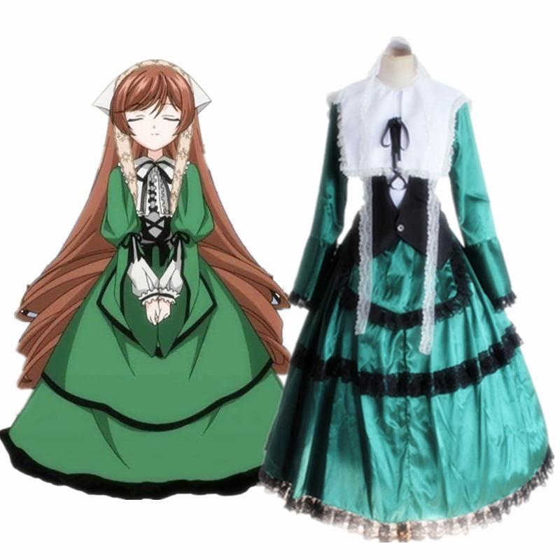 Japanese Anime Rozen Maiden Sui sei seki dress women Cosplay lolita princess dress uniform Halloween carnival costume