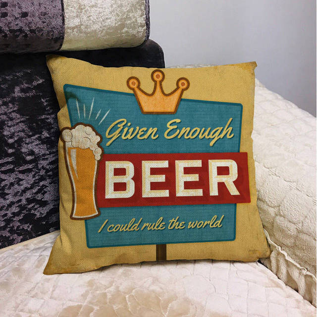 Beer Mancave Cushion Covers 8
