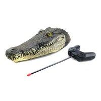 New Resin Simulation Crocodiles Head Remote Control Electric Boat Toys Crocodiles Head Spoof Toy Garden Supplies Decor Hogard