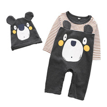 Toddler Newborn Baby Boys Girls Cartoon cotton Rompers Jumpsuit Outfits Clothes Autumn 3-18M Long Sleeve