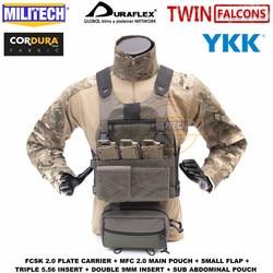 MILITECH TW FCSK 2,0 avanzado Slickster Ferro Plate Carrier con MFC 2,0 bolsa principal y bolsa de carga subabdominal conjunto oferta