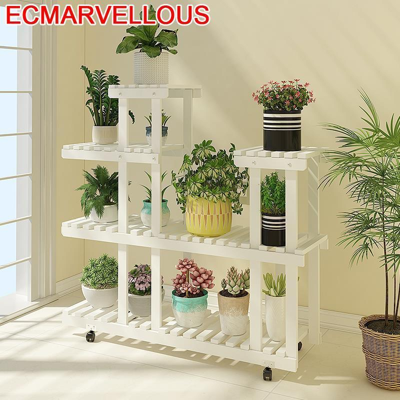 Escalera Decorativa Madera Saksi Standi Balkon Garden Shelves For Balcony Stojak Na Kwiaty Dekoration Flower Shelf Plant Stand