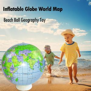 40cm Inflatable Globe World Earth Ocean Map Ball Geography Learning Educational Beach Ball Kids Toy home Office Decoration