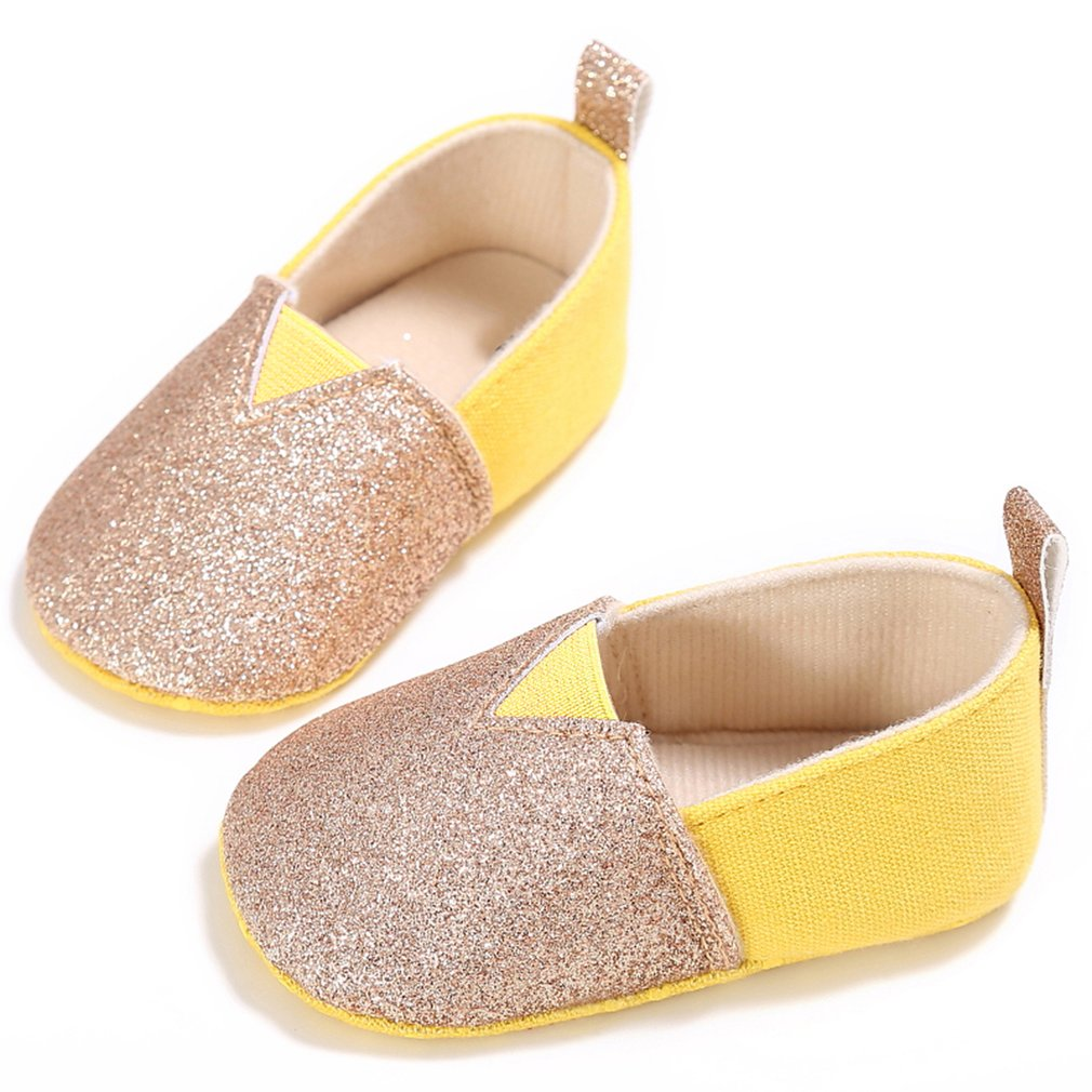 2018 Lovely Newborn Baby Shoes First Walkers Shoes Anti-slip Soft Sole Casual Shining Design Bebe Moccasins For Toddler Infant