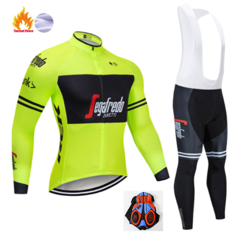 Black And White Long Sleeve Trekking Bike Clothes Thermal Fleece Ropa Roupa Invierno MTB Bike Clothing Winter Cycling Jersey