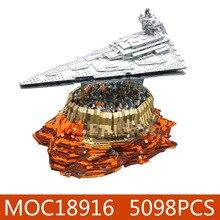 DHL, Звездные игрушки, войны, Империя над джедха, город, совместим с Legoing MOC-18916, строительные блоки, кирпичи, детские рождественские подарки, игрушки