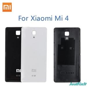 Original Battery Cover For Xiaomi Mi4 Back glass Cover Back Door Replacement For mi 4 Battery Cover Case