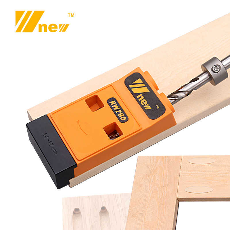 9mm Drill Oblique Pocket Hole Jig Kit System Woodworking Inclined Hole Puncher Locator W/ Step Drill Bit & Accessories