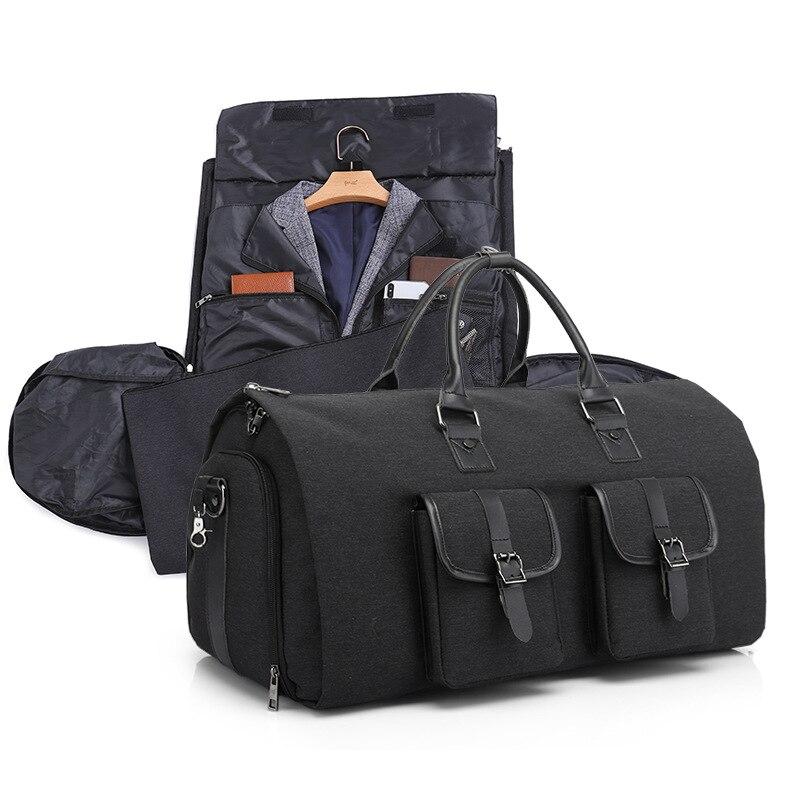 Marque multifonctionnel hommes sac de sport grande capacité bagages à main sacs étanche voyage costume sac de rangement avec pochette à chaussures