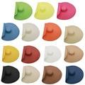 Оптовая продажа 15 цветов женские слишком большие пляжные шляпы черные летние с большими полями шляпа от солнца в сложенном виде папируса др...