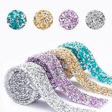 Ruban scintillant en cristal et strass, 2 tailles, ruban scintillant en diamant, pour emballage de ceinture, pour gâteaux de mariage, décoration artisanale d'anniversaire