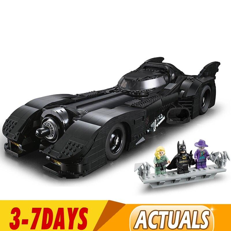 In Stock New 76139 Batman 1989 Batmobile Model 3856Pcs Building Kits Blocks Bricks Toys Children Gift Compatible 59005