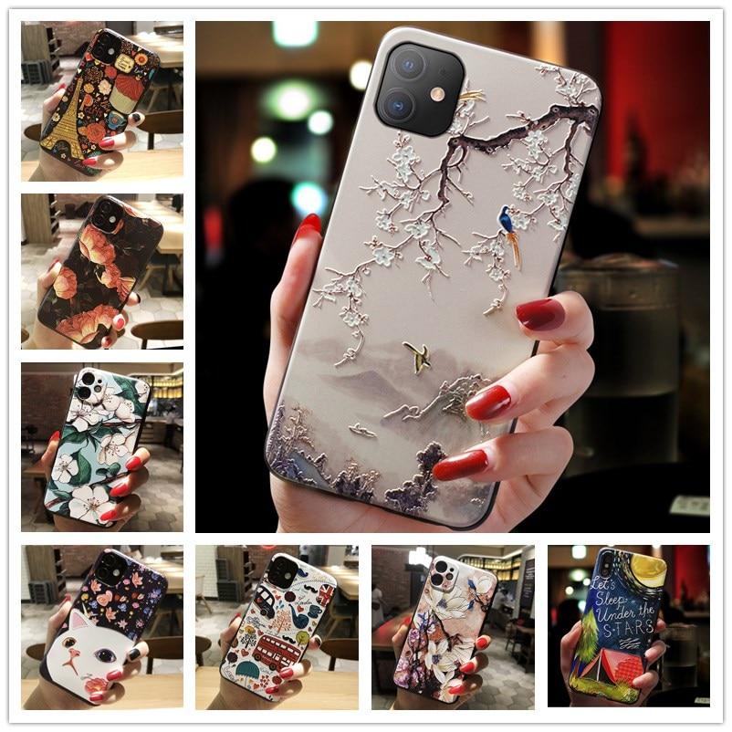 3D Relief Telefon Fall Für Nokia 2,4 fall Floral Silicon Abdeckung Für Nokia 3,4 2,4 8,3 5G 5,3 Fall fundas Coque für Nokia 8,3 5G