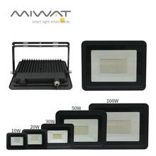 Ultra-thin10W 20 Вт 30 Вт 50 Вт 100 Вт Светодиодный прожектор Точечный светильник светодиодный поисковый светильник 110 В/220 В прожектор светильник s для уличного сада