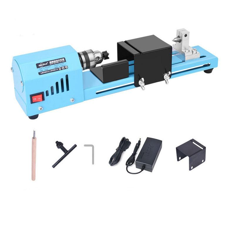 DC12-24V 150W Mini Lathe Beads Machine Woodworking DIY Lathe Standard Set Wood Lathe Standard
