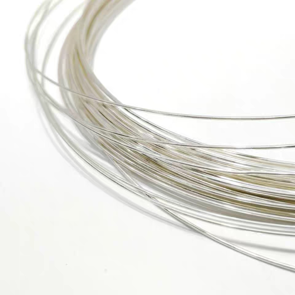 0.6-1.0mm L 500mm Silver Wire Round Solid 999 Sterling Silver Wiring Wire For Jewelry DIY Making, Beading Wire Accessories