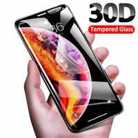 30D vidrio Protector para iPhone 11 Pro Max X XR XS MAX Protector de pantalla templado vidrio para iPhone borde curvo 11 Pro