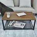 Retro retângulo mesa de café ferro mesa de café metal estilo industrial sala estar móveis para casa