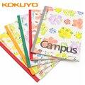 5 livros kokuyo frutas campus notebook a5/b5 simples estudantes universitários arte requintado notas de sala de aula bonito pequeno fresco papelaria