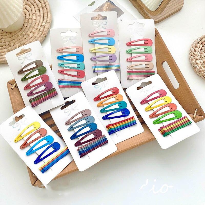 Haimeikang 12PCS/Set New Girls Cute Colorful Fashion Hairpins Children Barrettes Hair Clips Kids Fashion Hair Accessories