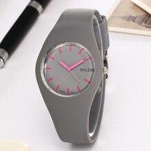 Exquisite Silicone Simple Women Watches Famous Brand Female Clock Quartz Watch Ladies Wrist Watch Montre Femme Relogio Feminino