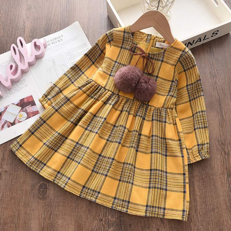 Autumn Winter Children's Clothing 2018 Girls' Party Knitted Sweater Autumn Winter Pullover Sweater Crochet Children Girl Dress
