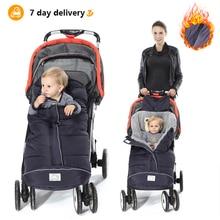 Зимние Детские спальные мешки, Детские спальные мешки-кокон, мягкий теплый конверт для новорожденных, спальные мешки для коляски с муфтой для коляски