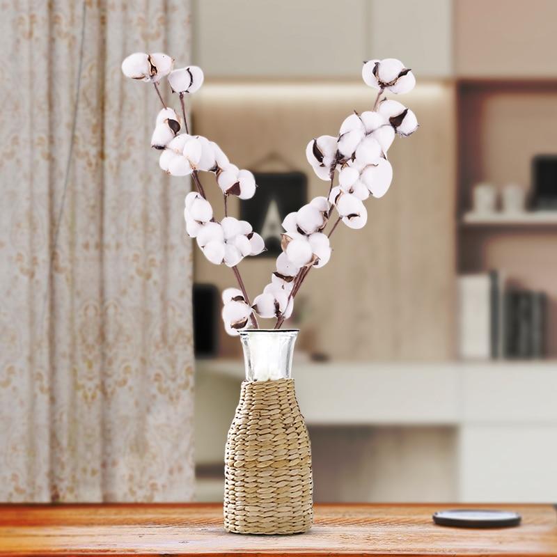 1 шт. натуральный хлопок искусственный цветок ветка для свадьбы Рождественское украшение ручной работы венок подарок Капок цветок товары для домашнего декора|Искусственные и сухие цветы|   - AliExpress