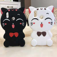 3D Cute Cartoon Cat Phone Case Silicone Cover For Huawei Honor 10i 20 i 8A honor Play 3 Honor20 20s Shell Back Cover