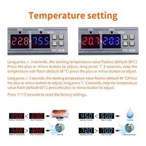 Image 5 - 12V 24V 220V 10A STC 3028 numérique température humidité mètre Thermostat double affichage thermomètre hygromètre réglable 0 ~ 100% RH