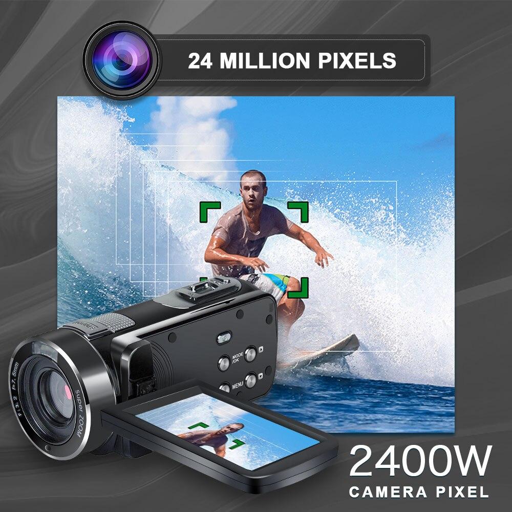 Cewaal P7 Full HD 4K 1080P Video Kamera Professionelle Nacht Vision Anti Schütteln Digitale Foto Vlog Kamera camcorder Flow Stabilisator - 6