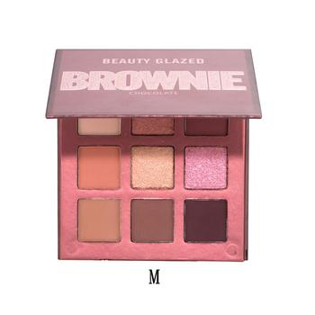 Beauty Glazed 9 Colors Eyeshadow Palette Shimmer Waterproof Metallic Matte Eye Shadow Powder Make Up Maquillage 17
