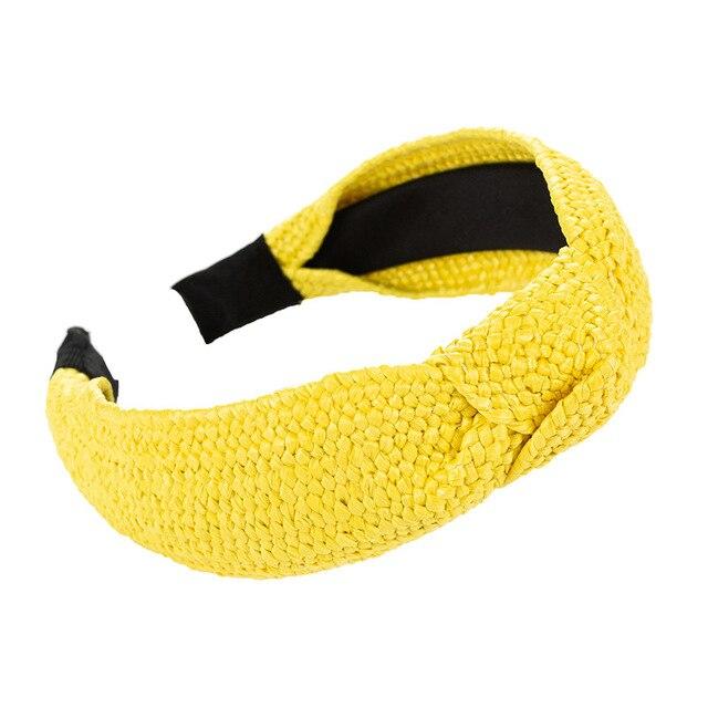 Фото повязка на голову cn в корейском стиле женская однотонная плетеная цена