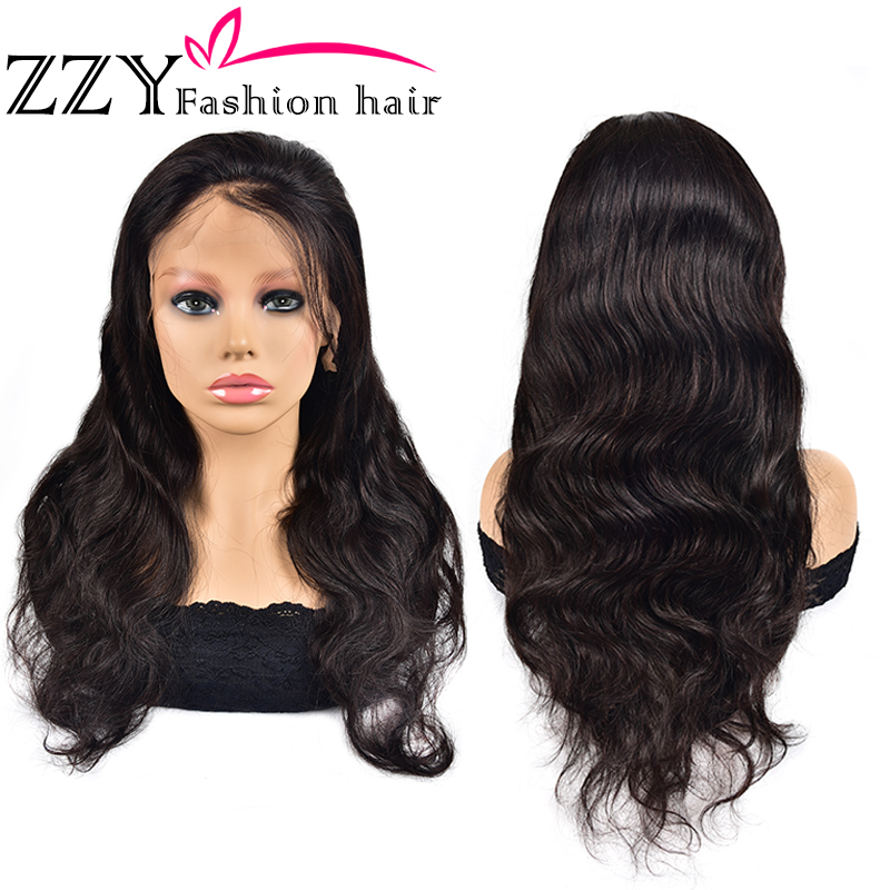 ZZY Fashion Brazilian Body Wave Lace Front Human Hair Wigs 150% Density 13x4 Lace Frontal Wig Non-remy PrePlucked With Baby Hair