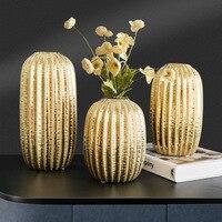 Kreative Keramik Goldene Vase Dekoration Licht Luxus Veranda Weichen Dekoration Wohnzimmer Schlafzimmer Dekoration Schrank Blume