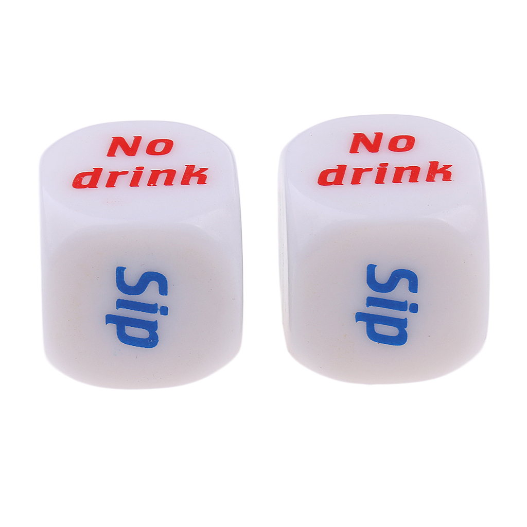 2Piece Creative Drinking Decider Game Dice Six Sided D6 for Pub Bar Beer Toy Board Game