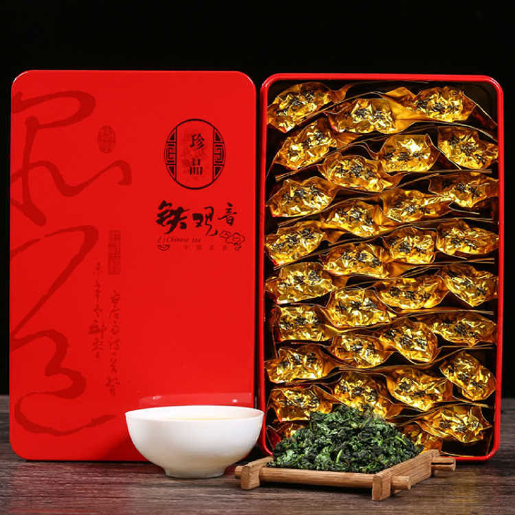 500g Authentic Tieguanyin Oolong Tea Gift Box With Luzhou-flavor Two-box Gift Bag