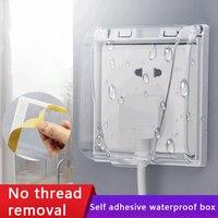 86 typ Doppel Buchse Schalter Protector Elektrische Stecker Abdeckung Kind Sicherheit Box Wasserdicht Splash Box Power Outlet Bad Lieferungen